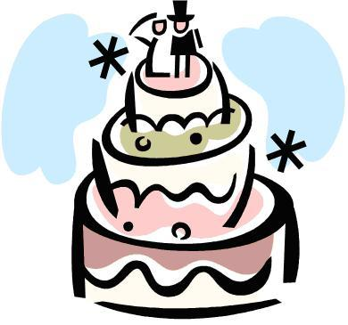 25th Anniversary Clip Art Images Cake