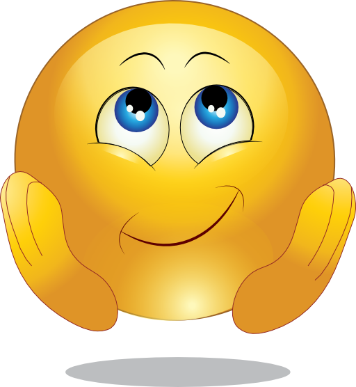 Yellow Wishing Happy Smiley Emoticon Clipart Royalty ...