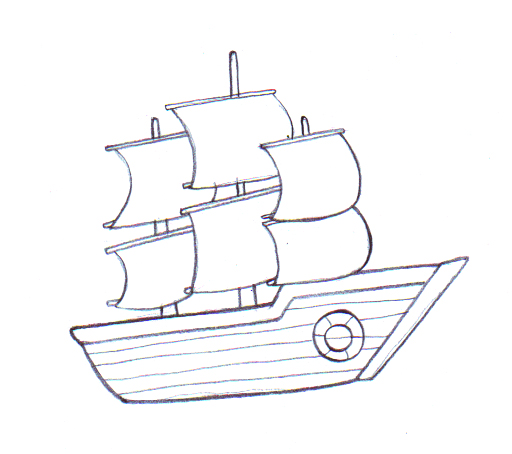 Drawing A Simple Sailboat - ClipArt Best