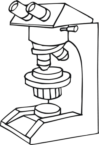 Microscope at work coloring page | Free Printable Coloring Pages