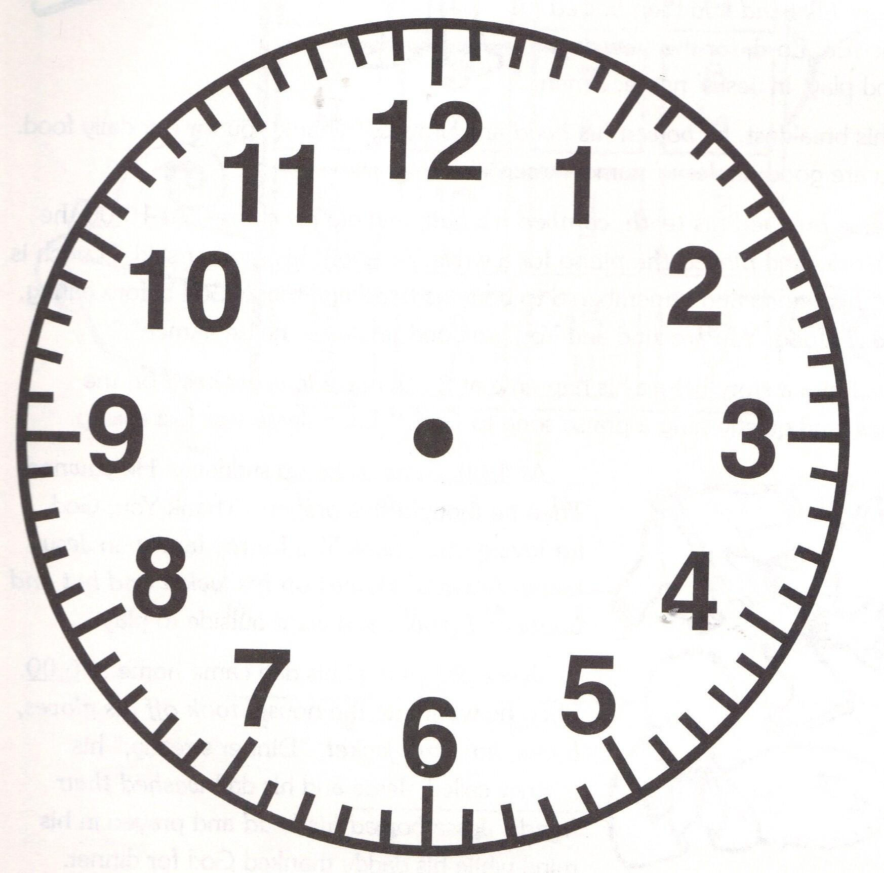 worksheet Face Of A Clock face of a clock clipart best blank clip art