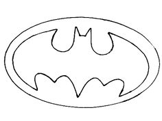 batman logo cake template - batman printable logo clipart best