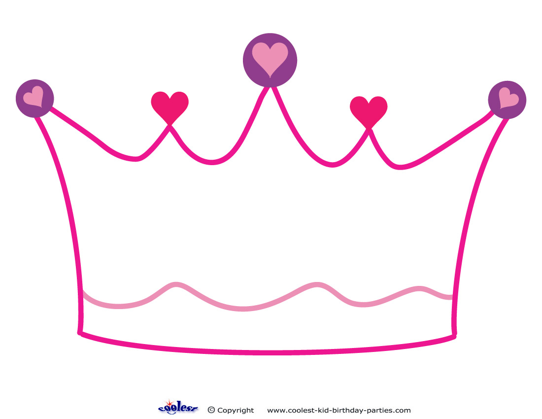 King crown template printable clipart best for Free printable tiara template