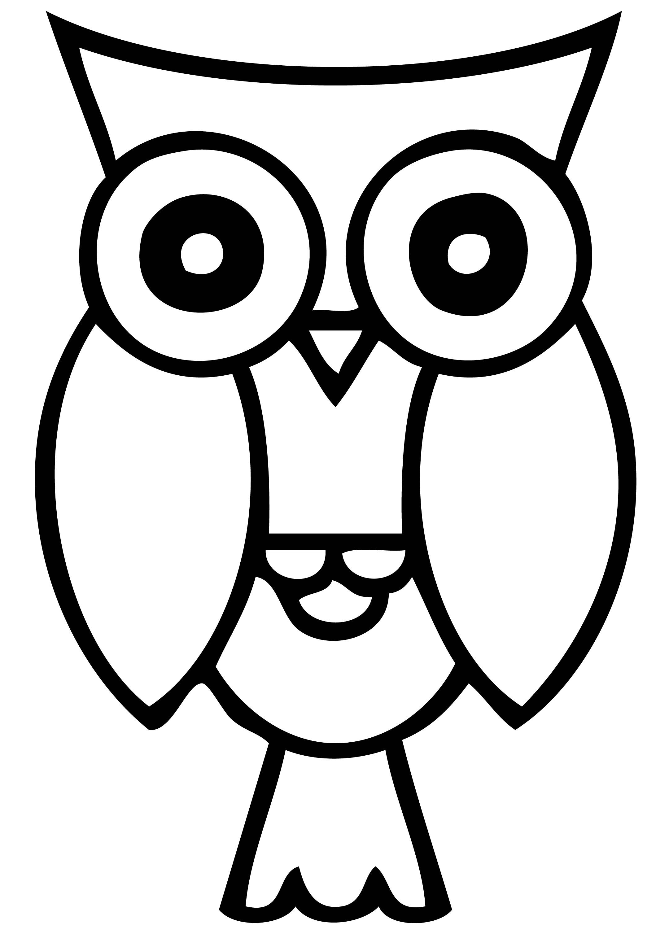 Owl Clip Art Black And White - ClipArt Best