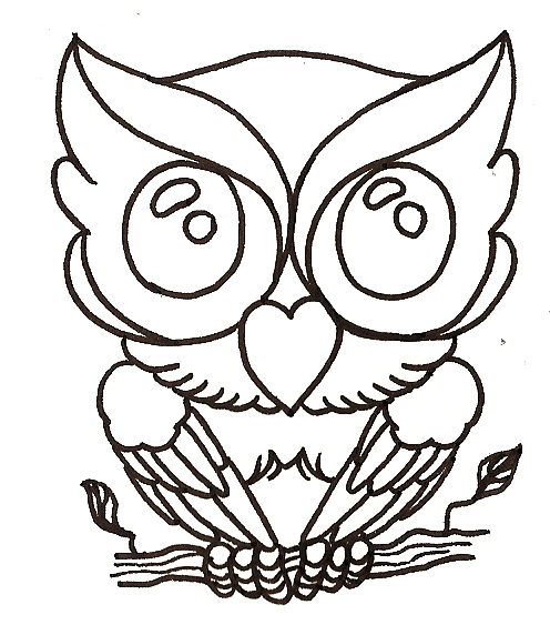 Owl Outline Drawing - ClipArt Best