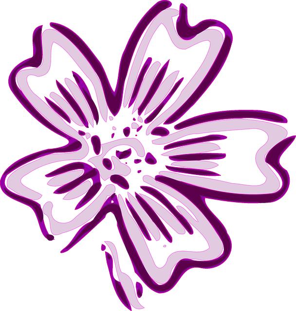 Purple Cartoon Flower Clipart Purple Flowers Cartoon...