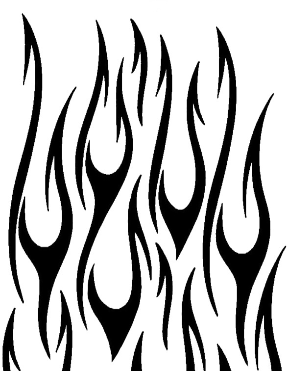 Tribal flames tattoo clipart best for Black and white flame tattoo