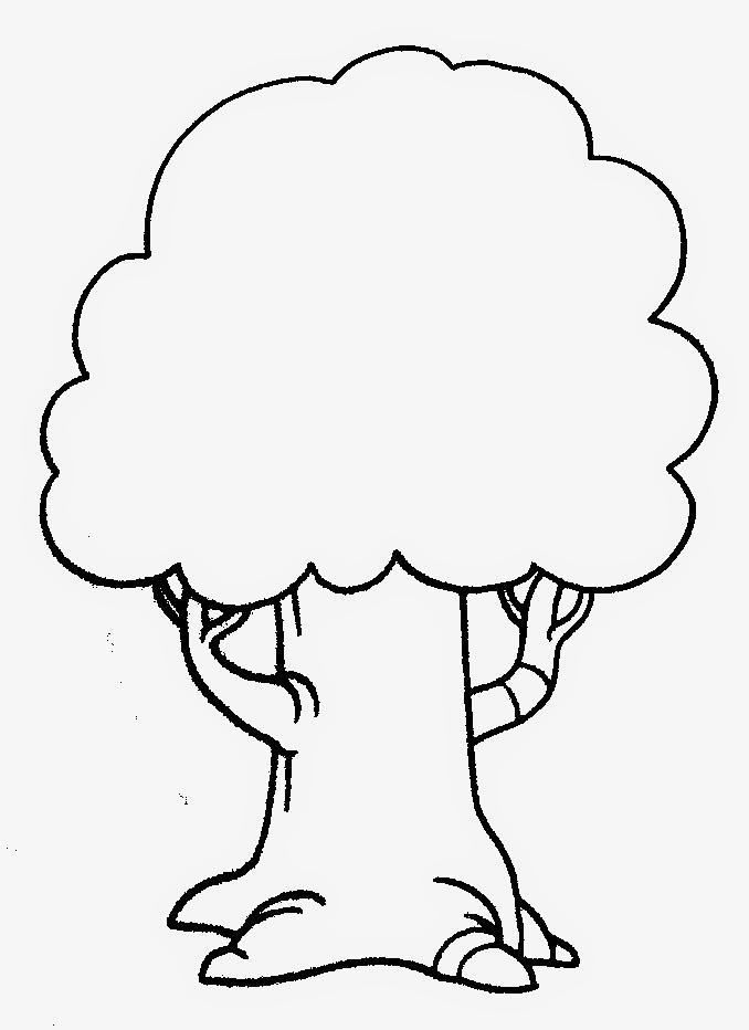 34 Keren Abis Gambar Pohon Kartun Hitam Putih