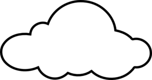 Cloud Black And White Clipart