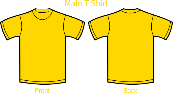 Blank T.shirt Front And Back - ClipArt Best