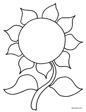 sunflower leaf template clipart best