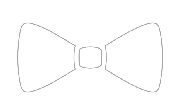 clipart bow tie outline - photo #28