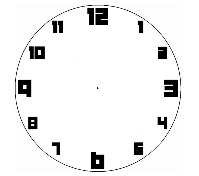 Blank Analog Clock Face - ClipArt Best