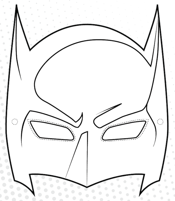 Superhero Mask Template - ClipArt Best