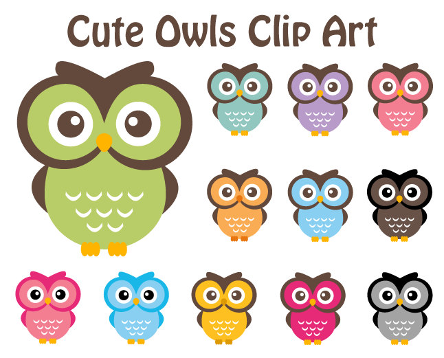Popular items for cute owl clip art on Etsy - ClipArt Best - ClipArt ...