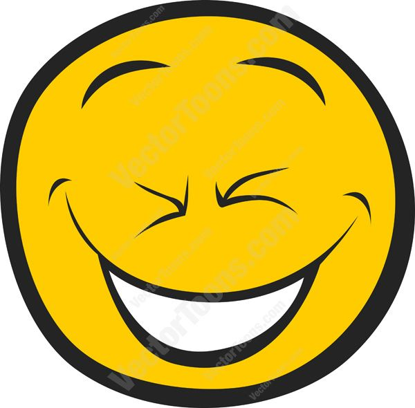Smiley Face Black And White Laughing | Clipart Panda - Free ...