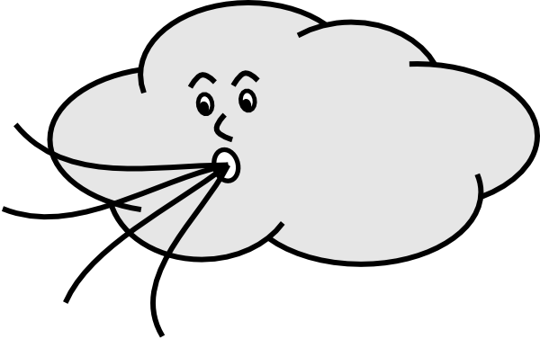 Windy Clipart Black And White - Free Clipart Images