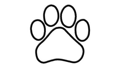 Puppy Paw Print Outline