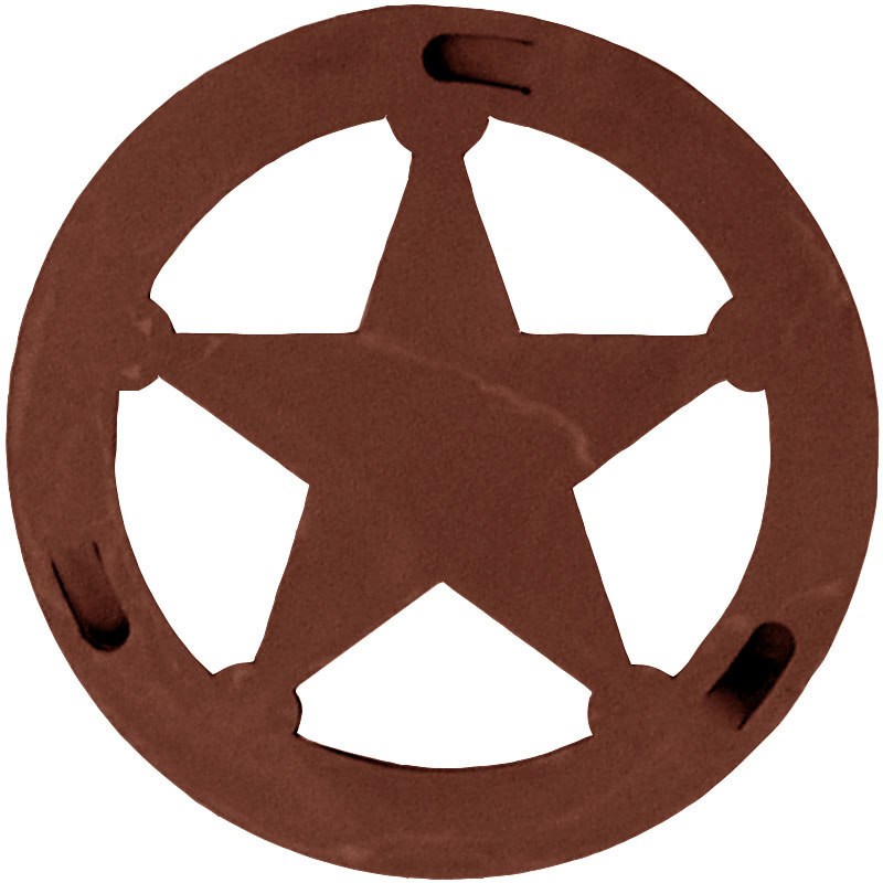 Texas Star Round Trivet by Ironwood Industries - NC Rustic