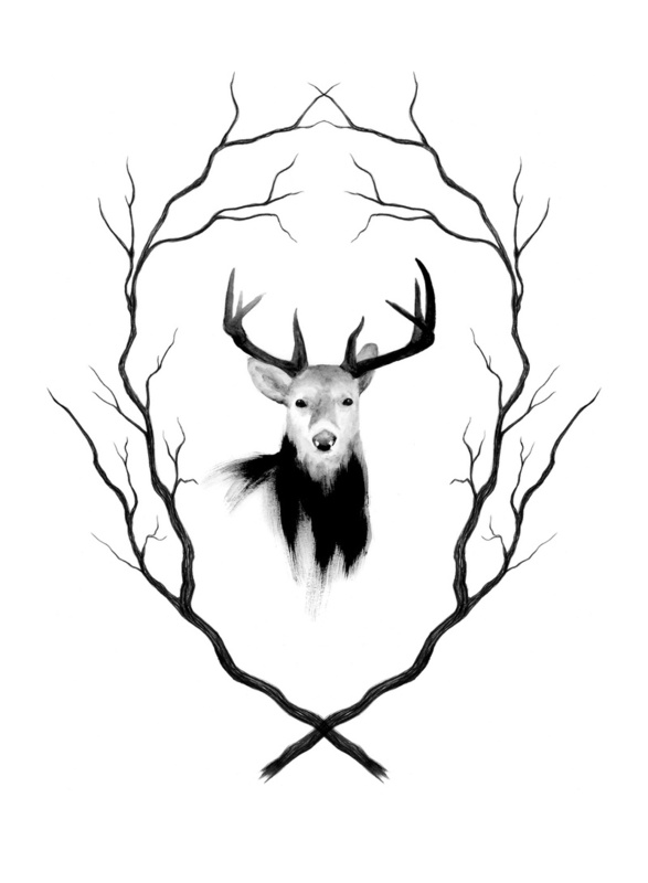 deer antlers drawing easy - photo #38