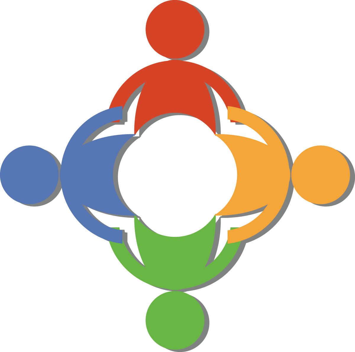 Circle of people holding hands clipart