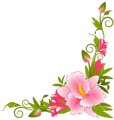 Simple Flower Border - ClipArt Best