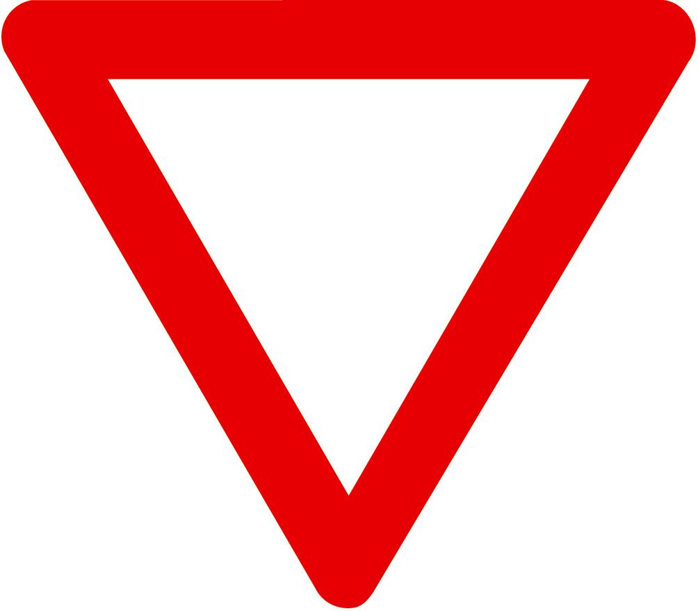 Blank Yield Sign Yield...