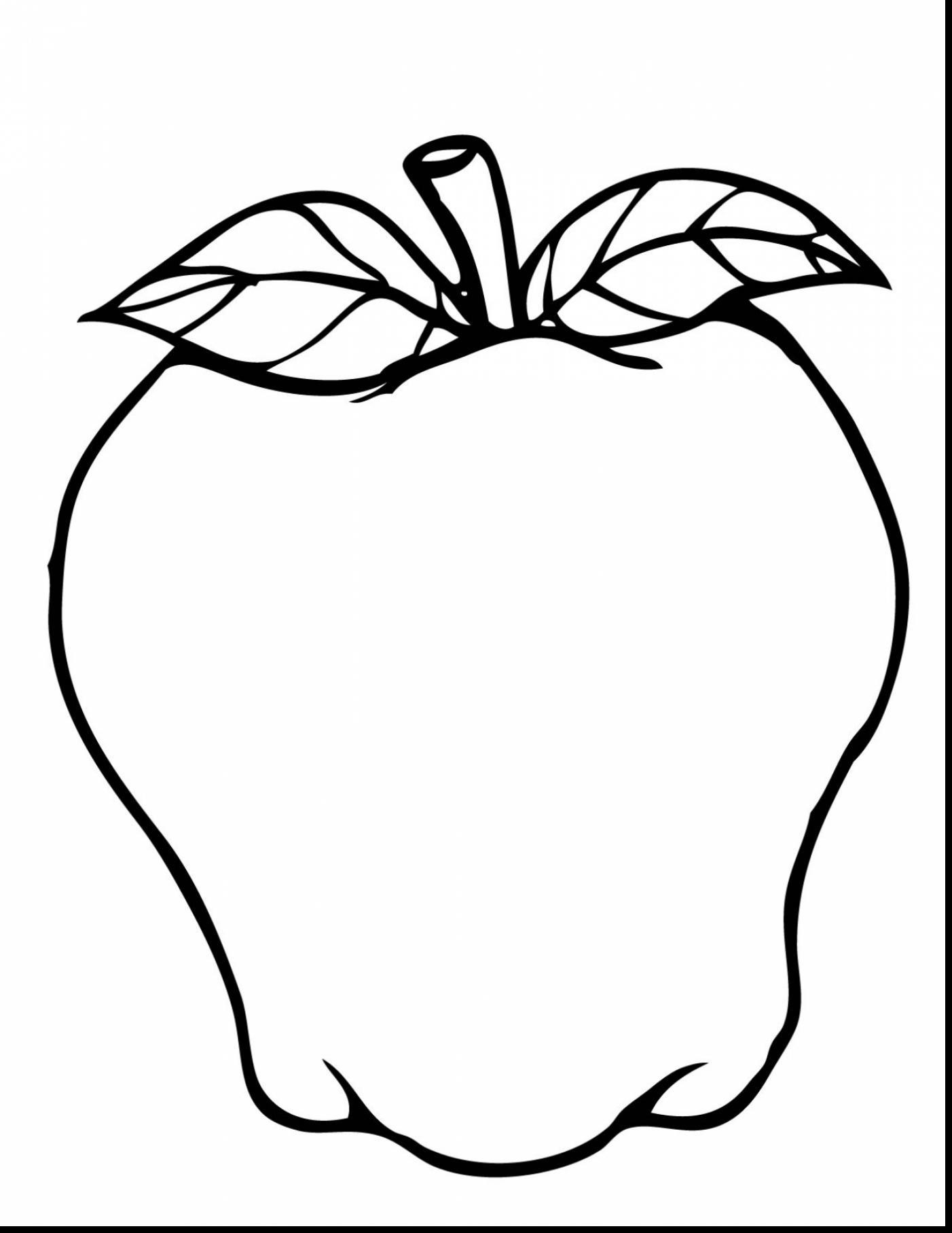 Apple Tree Outline Printable