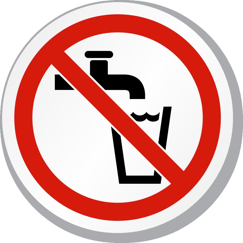 No drinking water clipart best