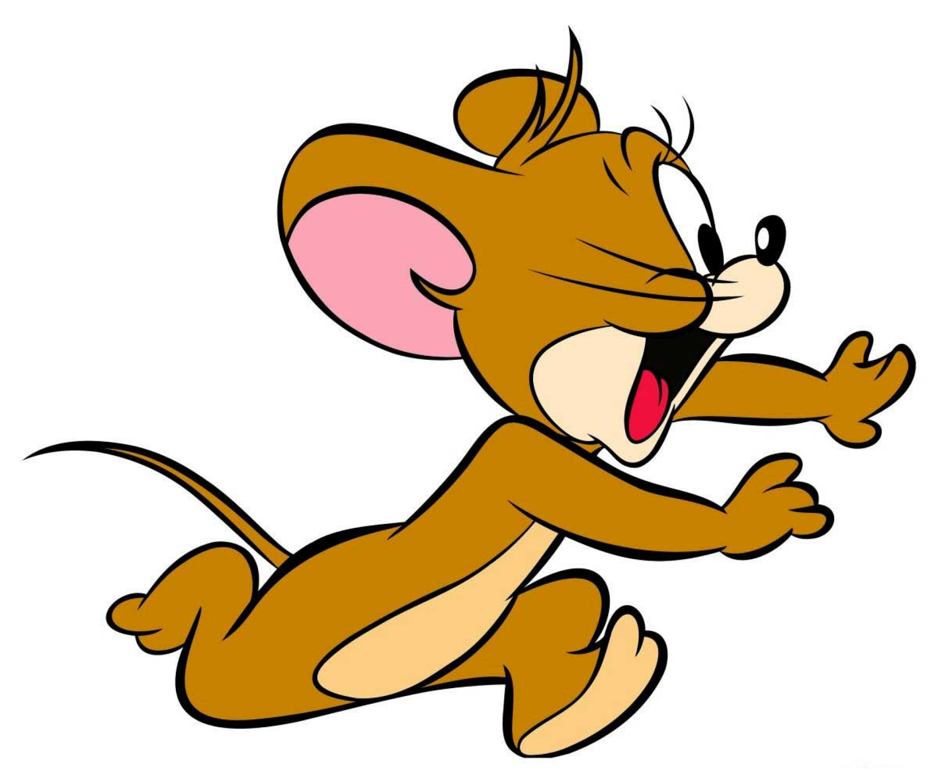 Cartoon wallpapers jerry the mouse running and shouting