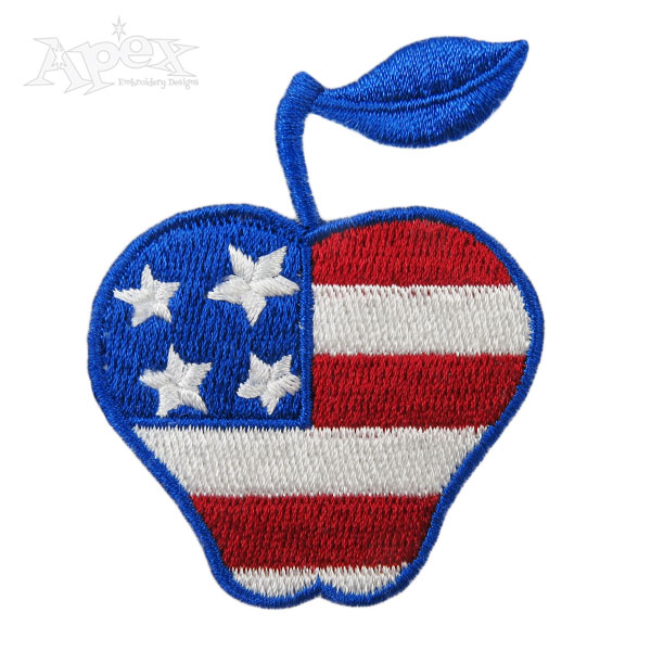 Free Usa Flag Embroidery Design