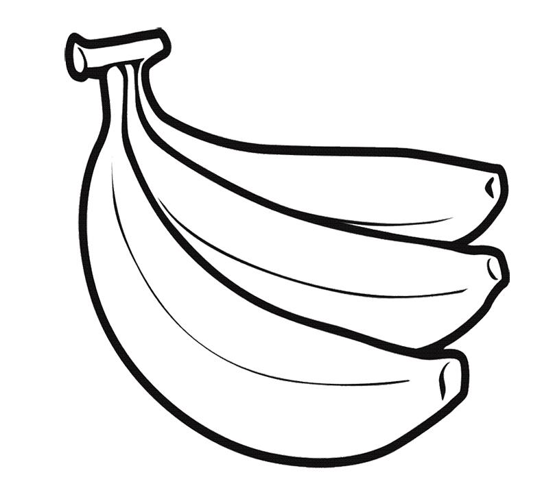 Line Drawing Banana : Banana line drawing clipart best