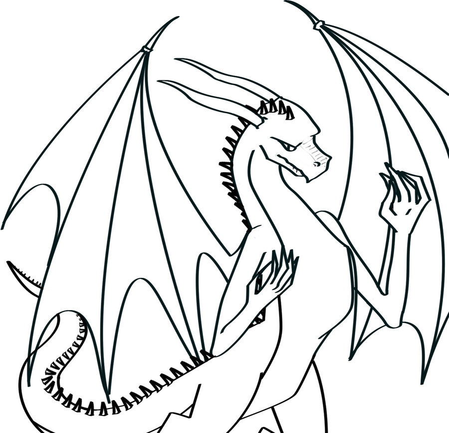 Line Art Dragon : Line art dragon clipart best