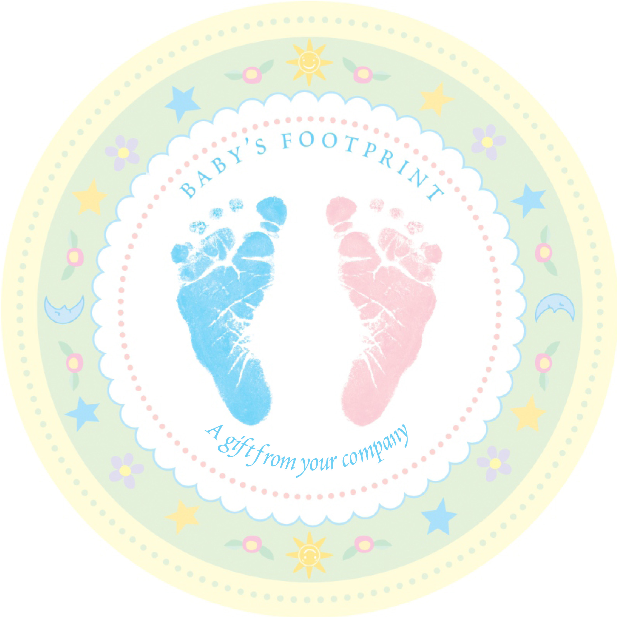 Pink Baby Footprint Clipart - ClipArt Best