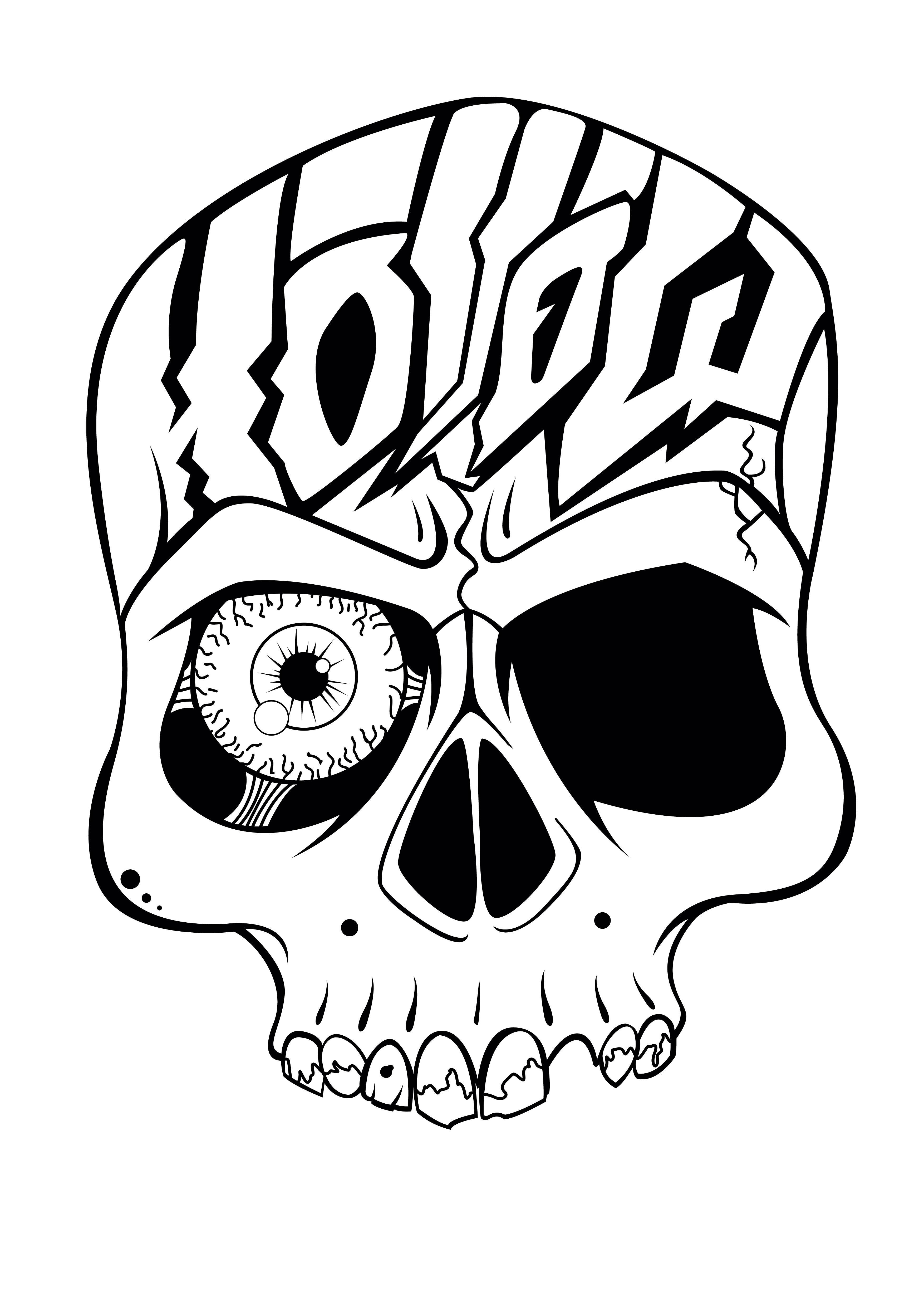 Skull Designs Drawing Hollow Skull