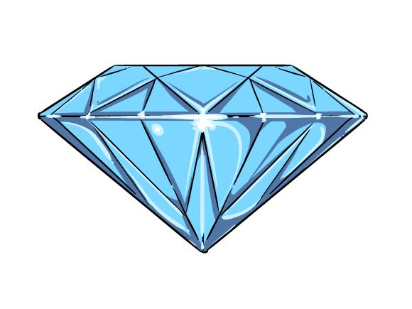 cartoon diamond outline clipart best