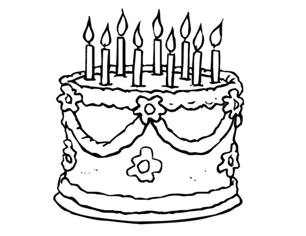 Birthday Cake Coloring Pages | smilecoloring.