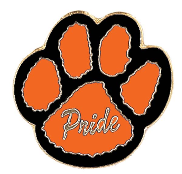 orange and black paw print clipart best