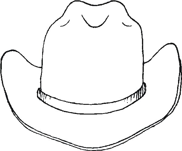 Colored Cowboy Hats Hat Printable Coloring Page