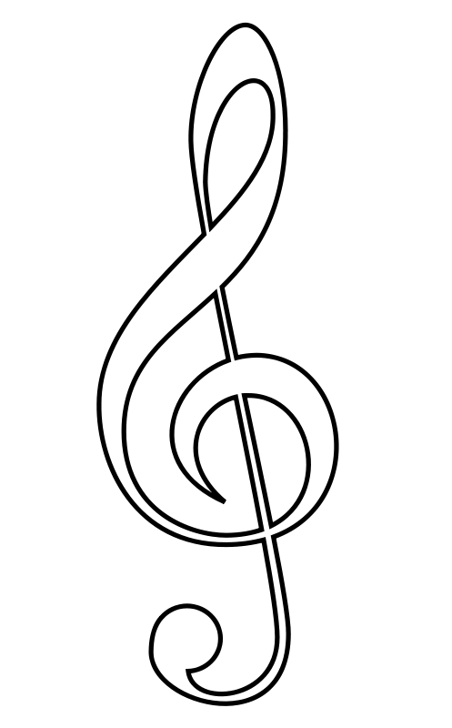 Line Art Notes : Drawings of musical notes clipart best