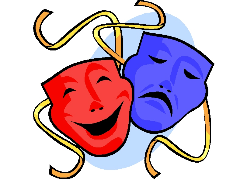 Comedy Clipart Comedy and tragedy masks