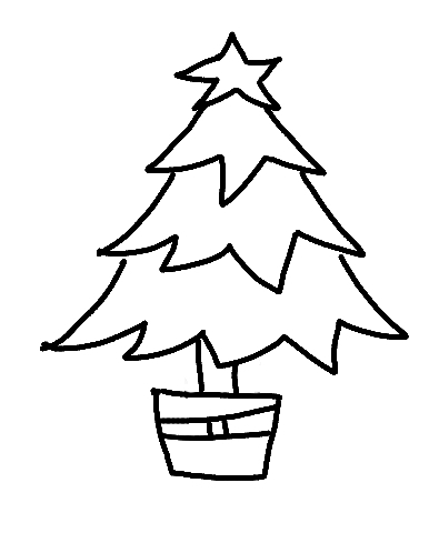 Christmas tree line drawing clipart best for Decoration drawing