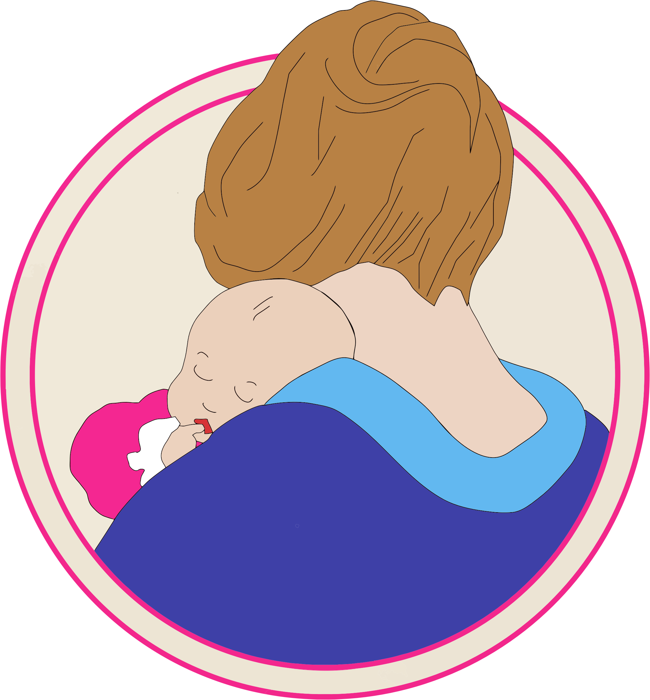 Mother And Baby Clip Art - ClipArt Best