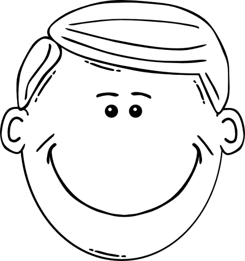 Face Outline Printable ClipArt Best – Blank Face Template Printable