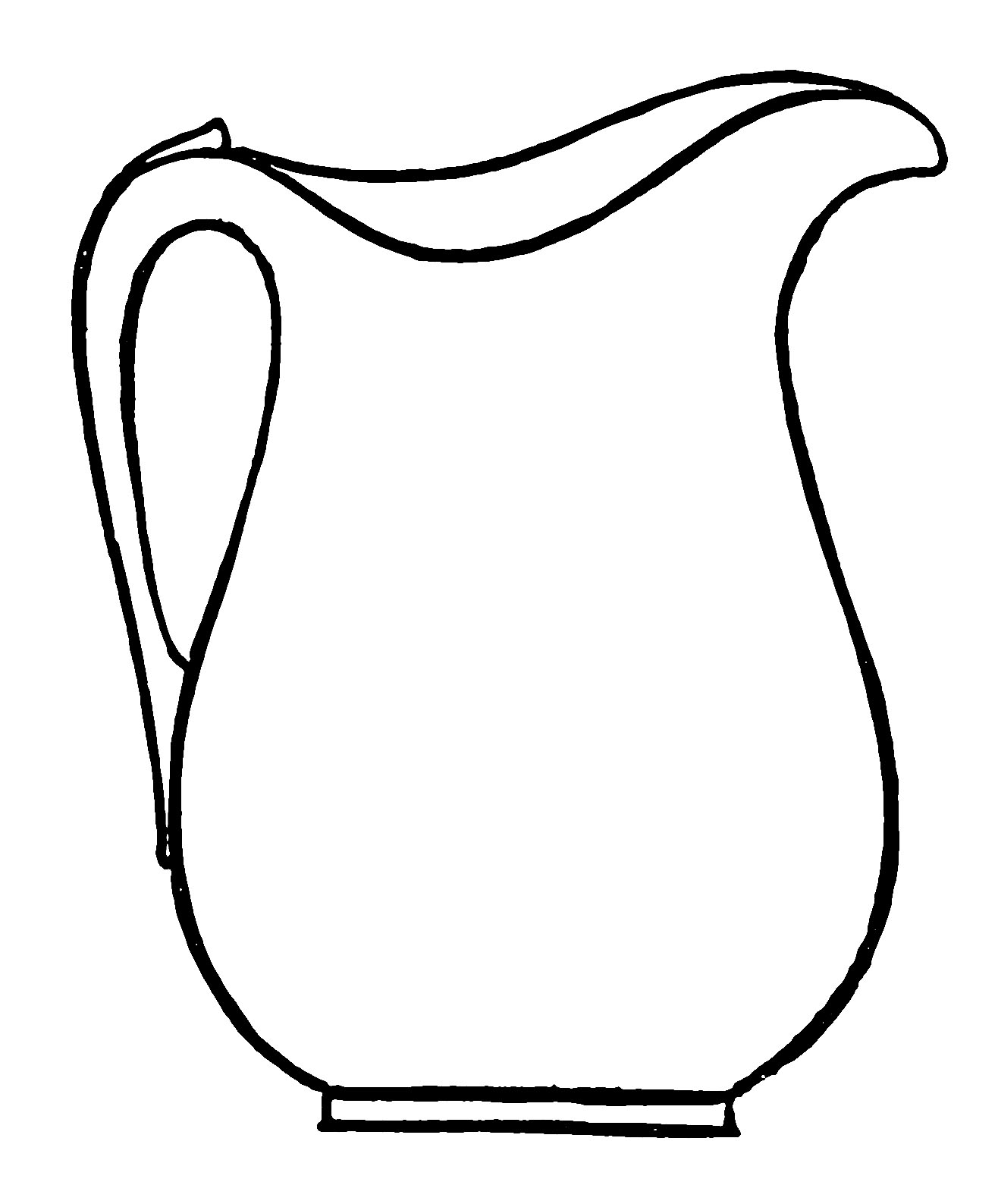 Jug Outline Image Clipart Best Outline Pictures For Coloring