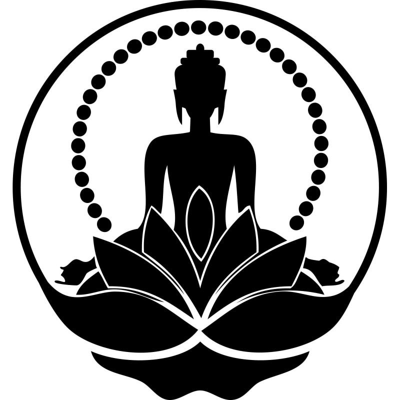 buddha silhouette sticker cheap wall stickers discount
