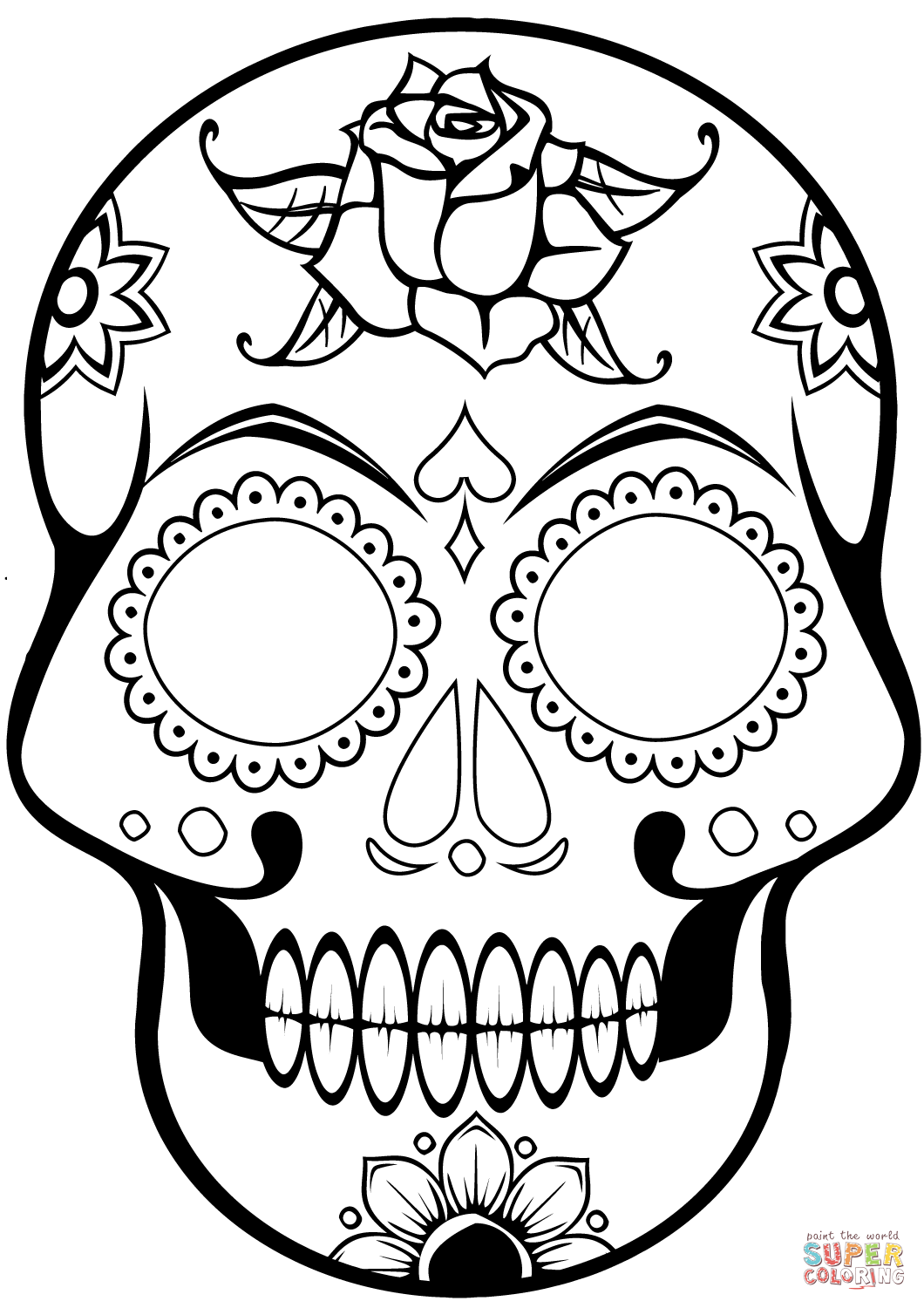 Sugar Skull coloring page | Free Printable Coloring Pages ...