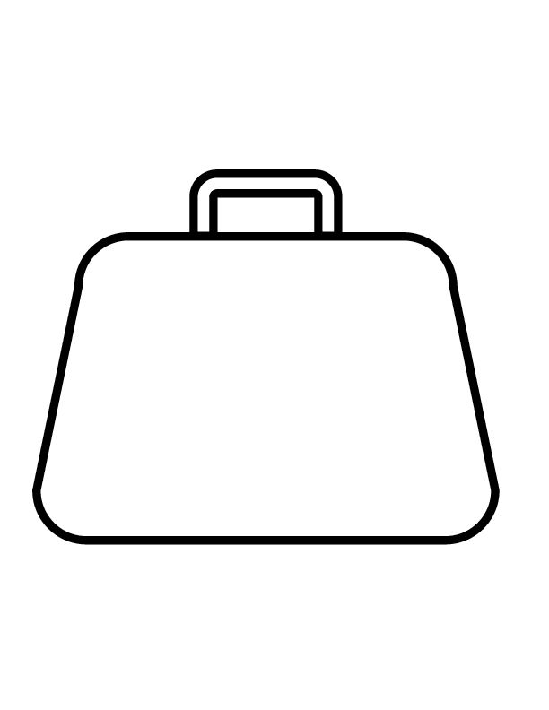 Outline Purse - ClipArt Best Purse Clipart Black And White