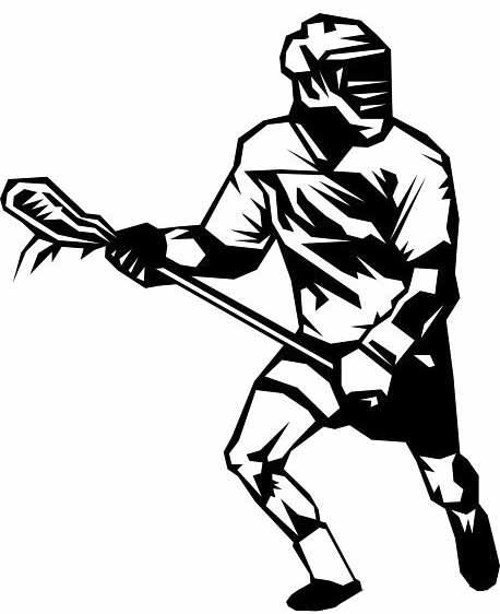 Lacrosse Stick Drawing Clipart Best