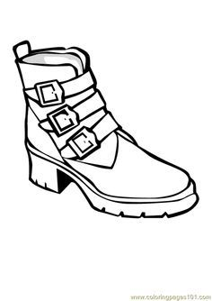 Running shoe coloring book clipart best for Running shoe coloring page